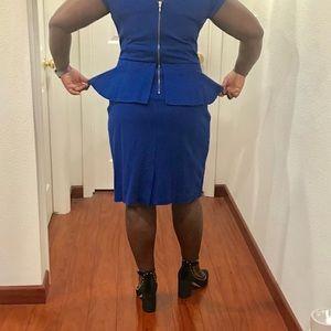 Banana Republic Dresses - 🎉 Banana Republic Blue Peplum Dress Size 14 🎉